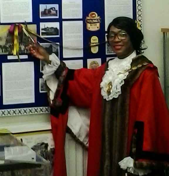 Photo of Merton mayor opening our new exhibition